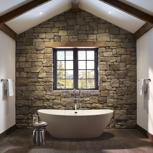Stone Accent Wall With Glitter Brick: Accent Walls: 12 Gorgeous Examples That Will Inspire You